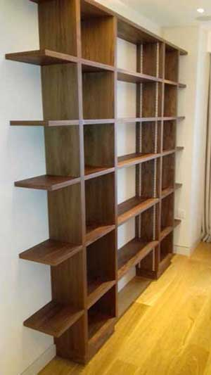 Fitted open shelving