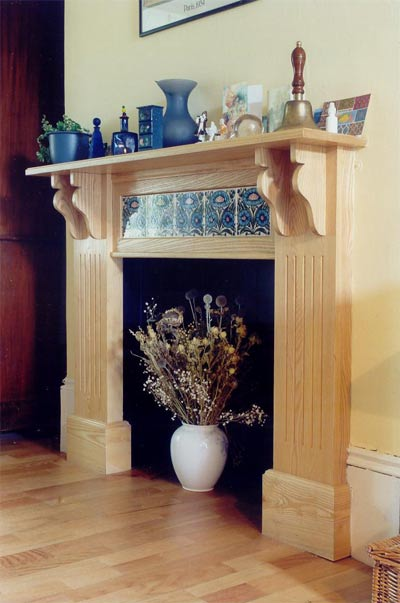 Fire surround in Ash