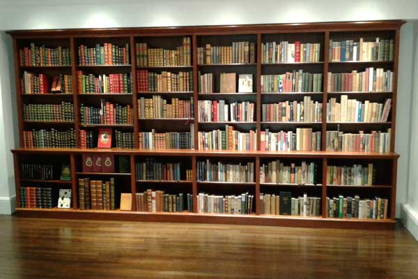 Mahogany bookshelves