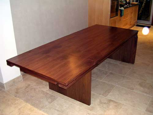Drop-leaf Walnut dining table